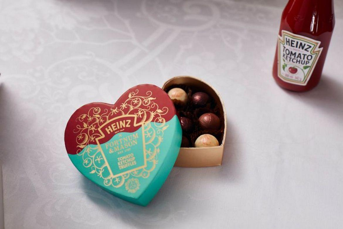 Heinz and Fortnum & Mason team up to create questionable ketchup truffles for Valentine's Day : Luxurylaunches