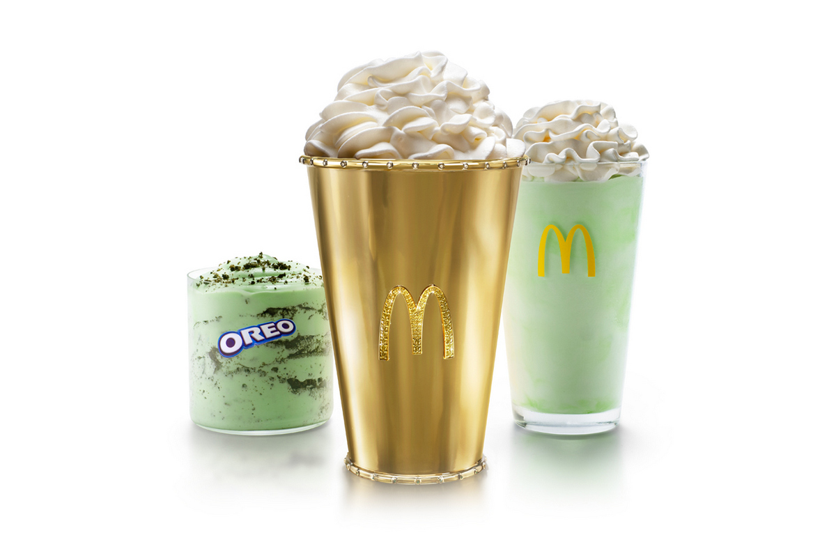 McDonald's is auctioning a $100,000 Golden Shamrock Shake to celebrate the iconic drink's 50th anniversary : Luxurylaunches