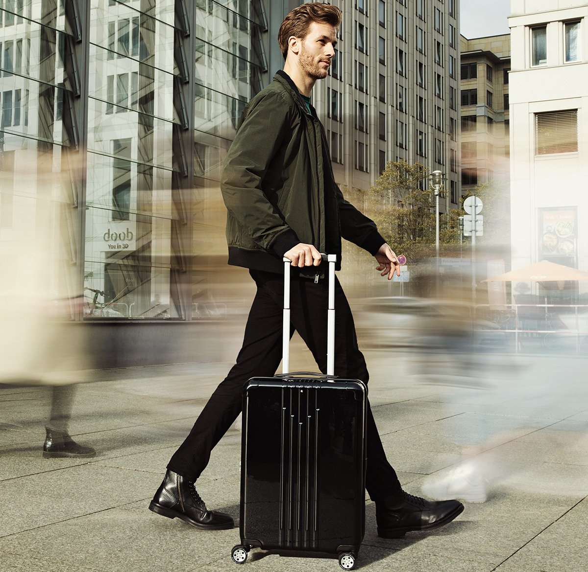 For your upcoming jet-setting adventures - Take a look at Montblanc's #MY4810 Light Trolley Collection : Luxurylaunches