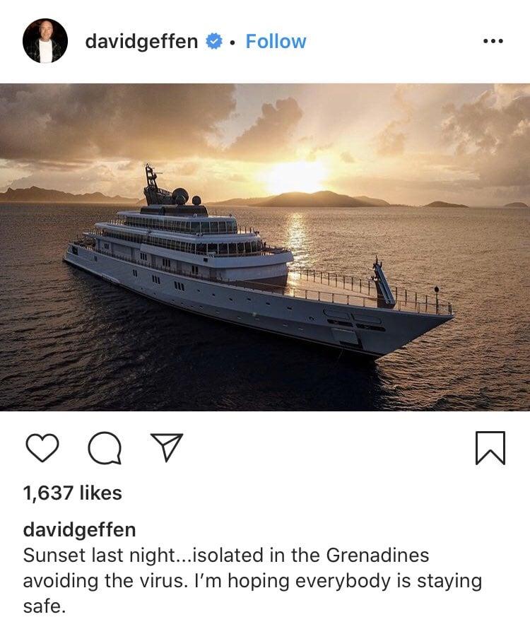 American Billionaire David Geffen Slammed For Flaunting