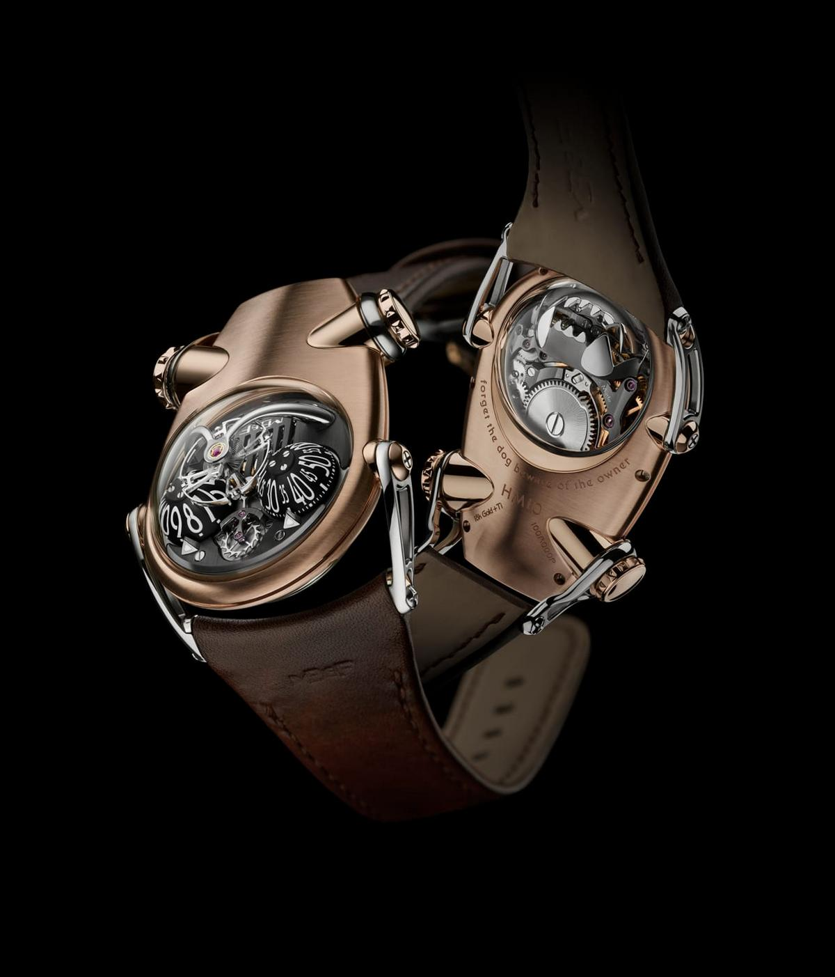 MB&F's latest bulldog-inspired Horological Machine has a mechanical jaw as its power reserve indicator : Luxurylaunches