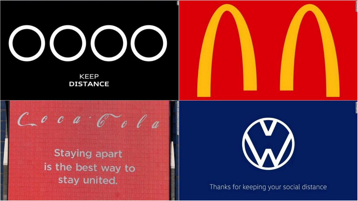 From Audi to McDonalds here is how iconic brands are promoting social distancing by recreating their logos : Luxurylaunches