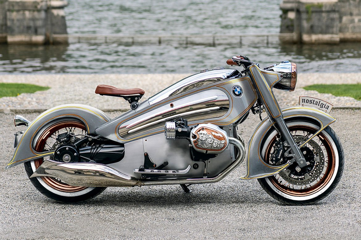 This art deco inspired limited edition BMW motorcycle is finished in platinum and gold