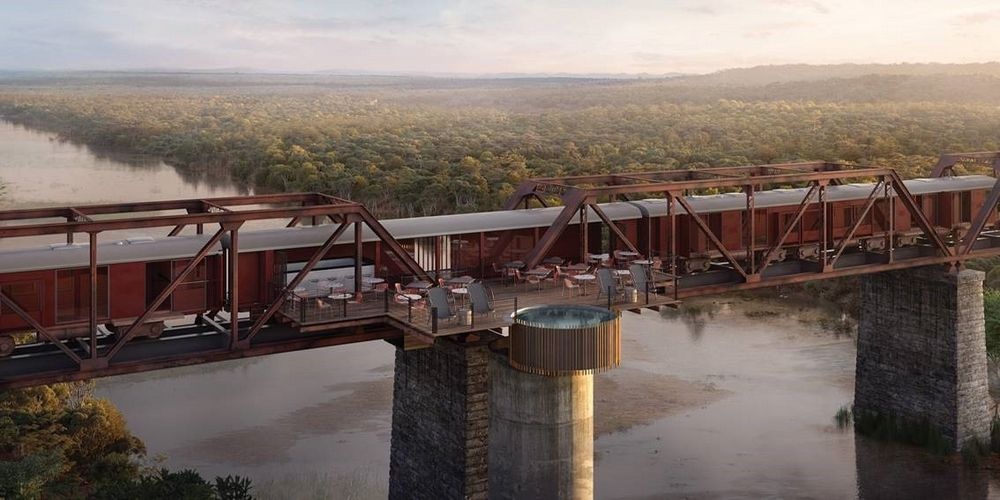Kruger Shalati – An ultra luxury train hotel that will be stationed on a bridge in South Africa's iconic Kruger national park