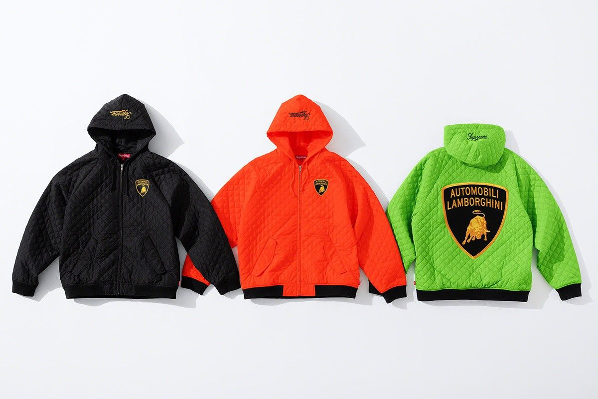 Supreme teams up with Lamborghini for an awe-inspiring capsule collection : Luxurylaunches