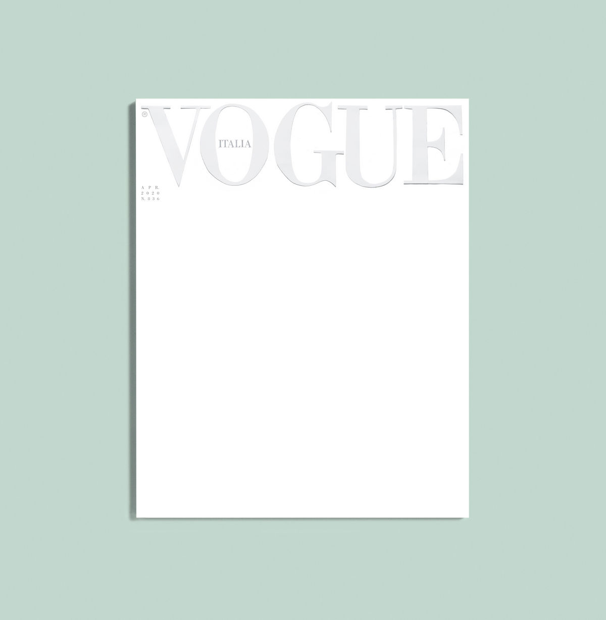Vogue Italia Releases First-ever, All-white Cover Due To