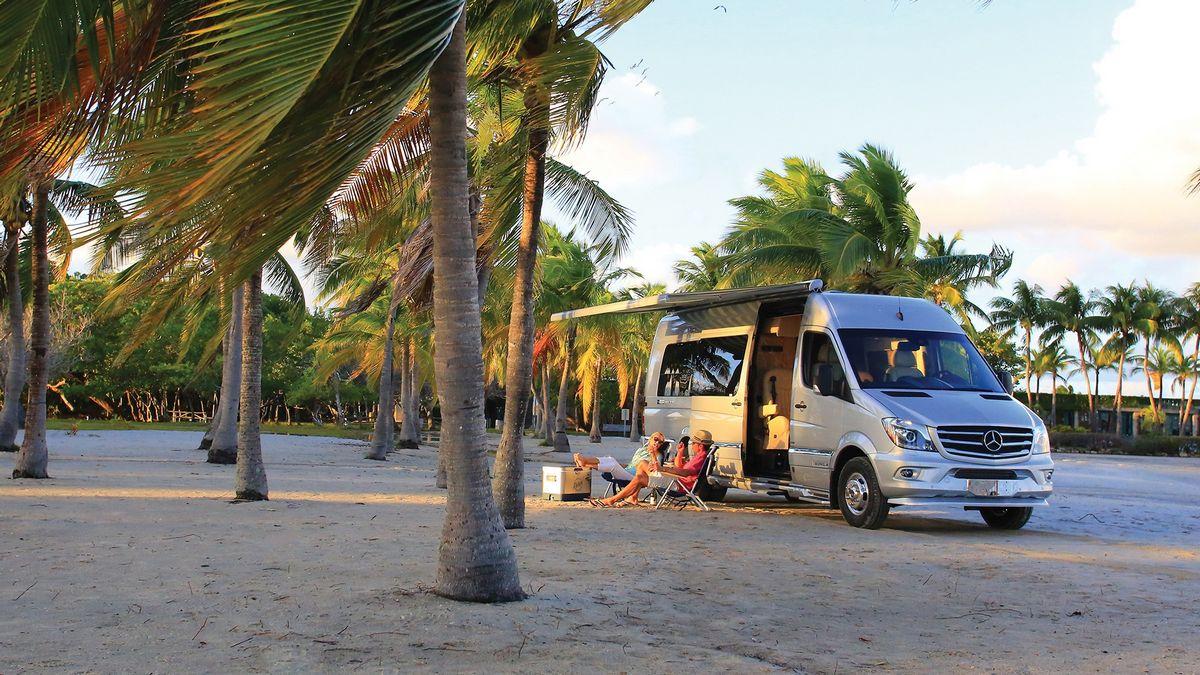 Airstream x Tommy Bahama Relax Edition is a Mercedes Sprinter van for beach-themed fun and mini-bar margaritas : Luxurylaunches