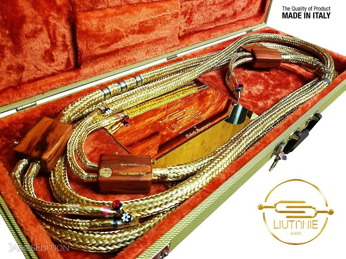 Costing $71,000 this handmade 24K Gold audio cable is the ultimate accessory for an audiophile : Luxurylaunches
