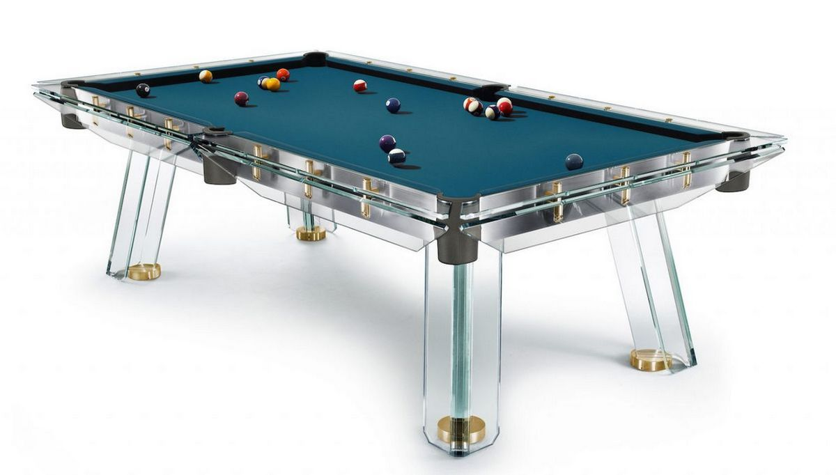 The $62,000 transparent pool table comes fitted with 24K gold plated elements