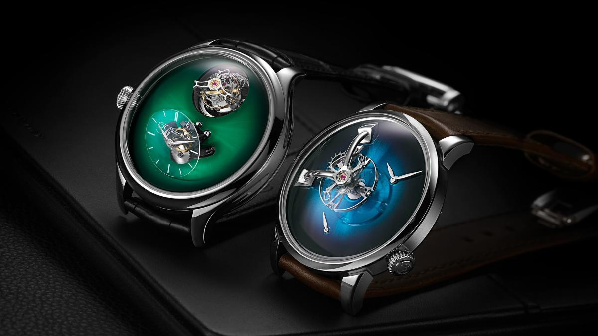 MB&F and H. Moser & Cie. have collaborated to introduce a pair of minimalist timepieces