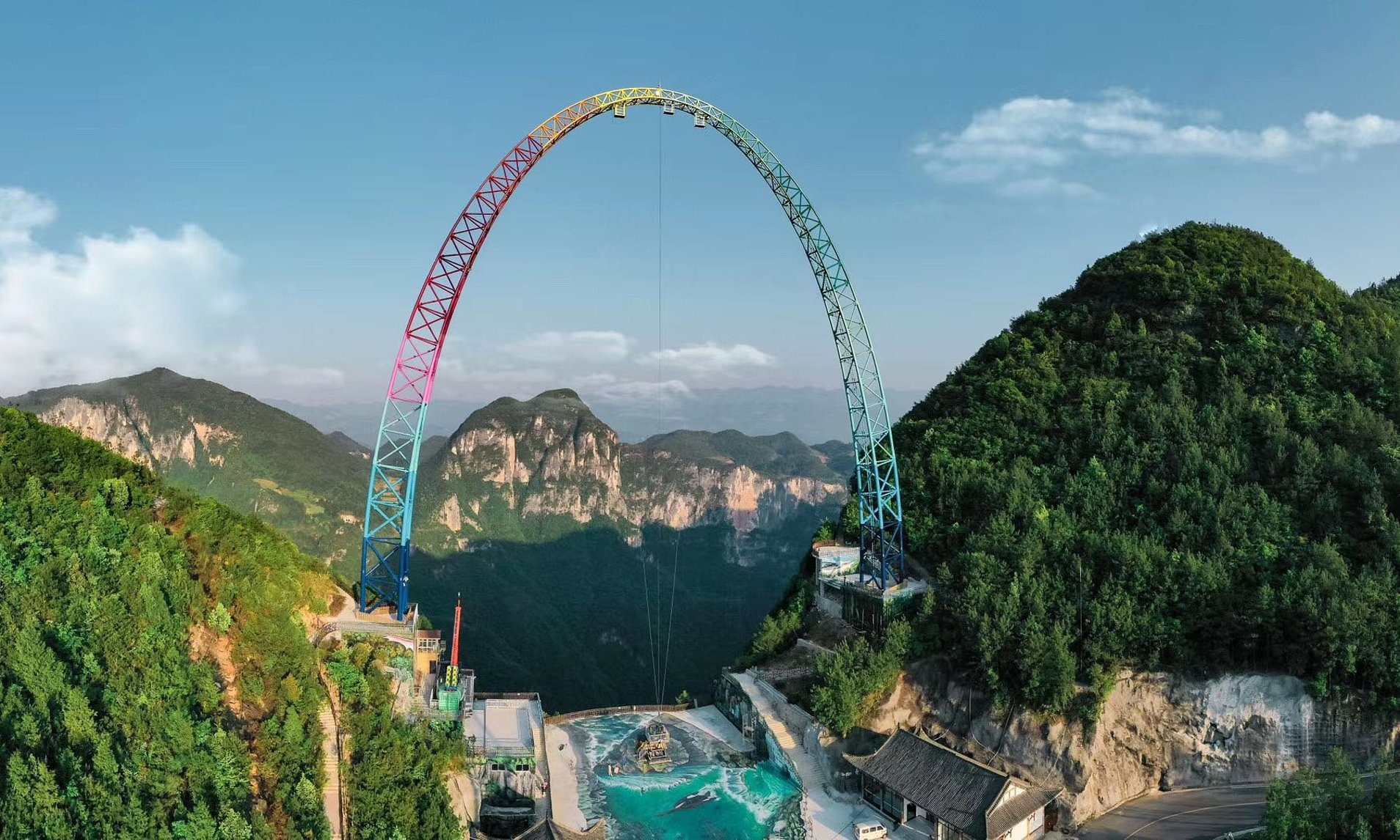 Standing 30 storeys tall – China has built the worlds largest and scariest swing