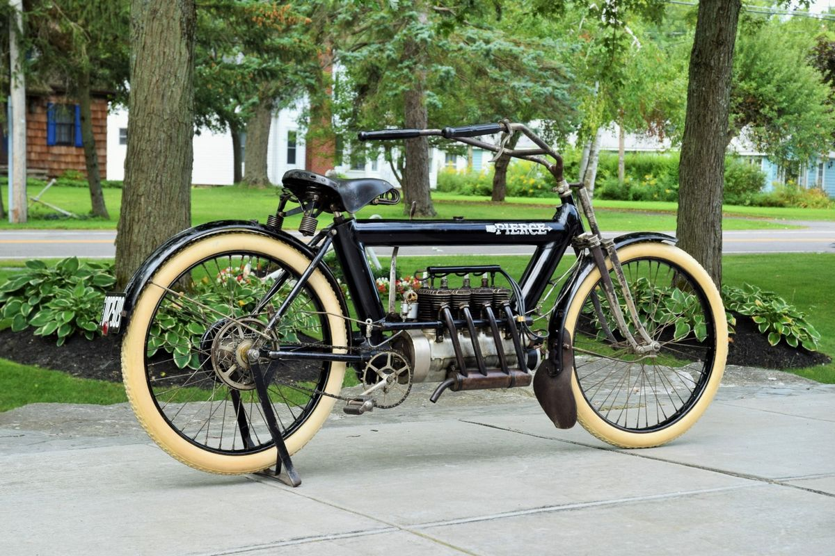 This 109-year-old motorcycle which was preserved in its original condition just set an auction record by selling for $225,000