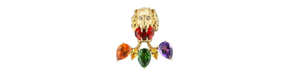 Gucci Majestic Lion Head Fine Jewelry