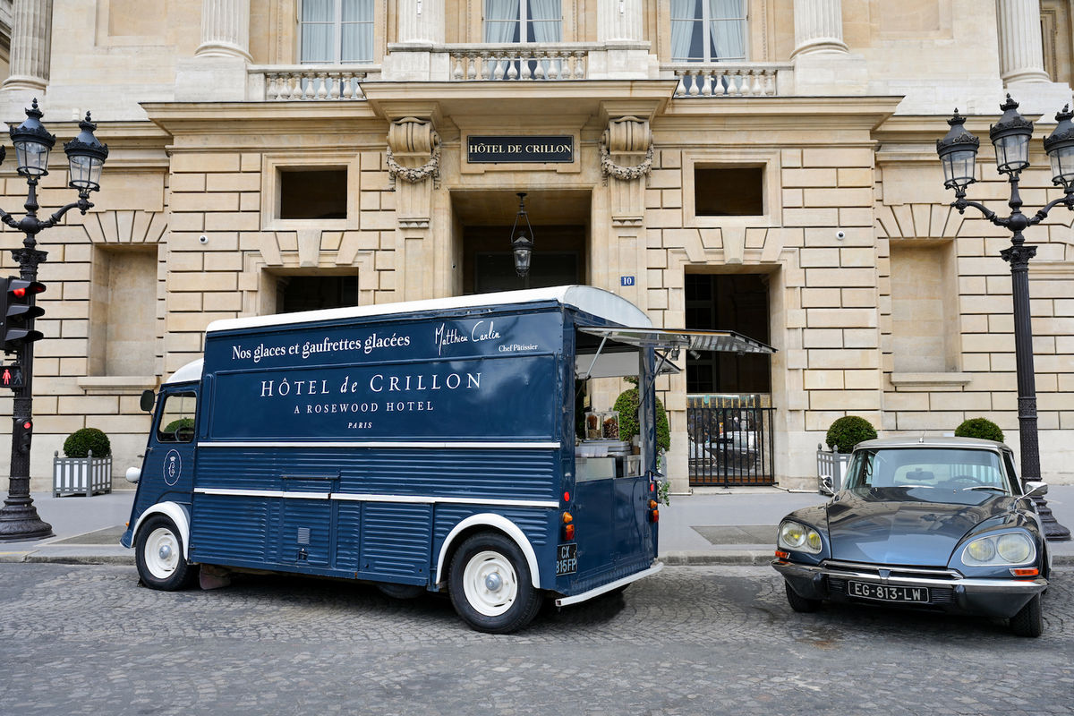 Helmed by the Head Pastry Chef of a Parisian hotel could this be the world's most luxurious ice cream truck?