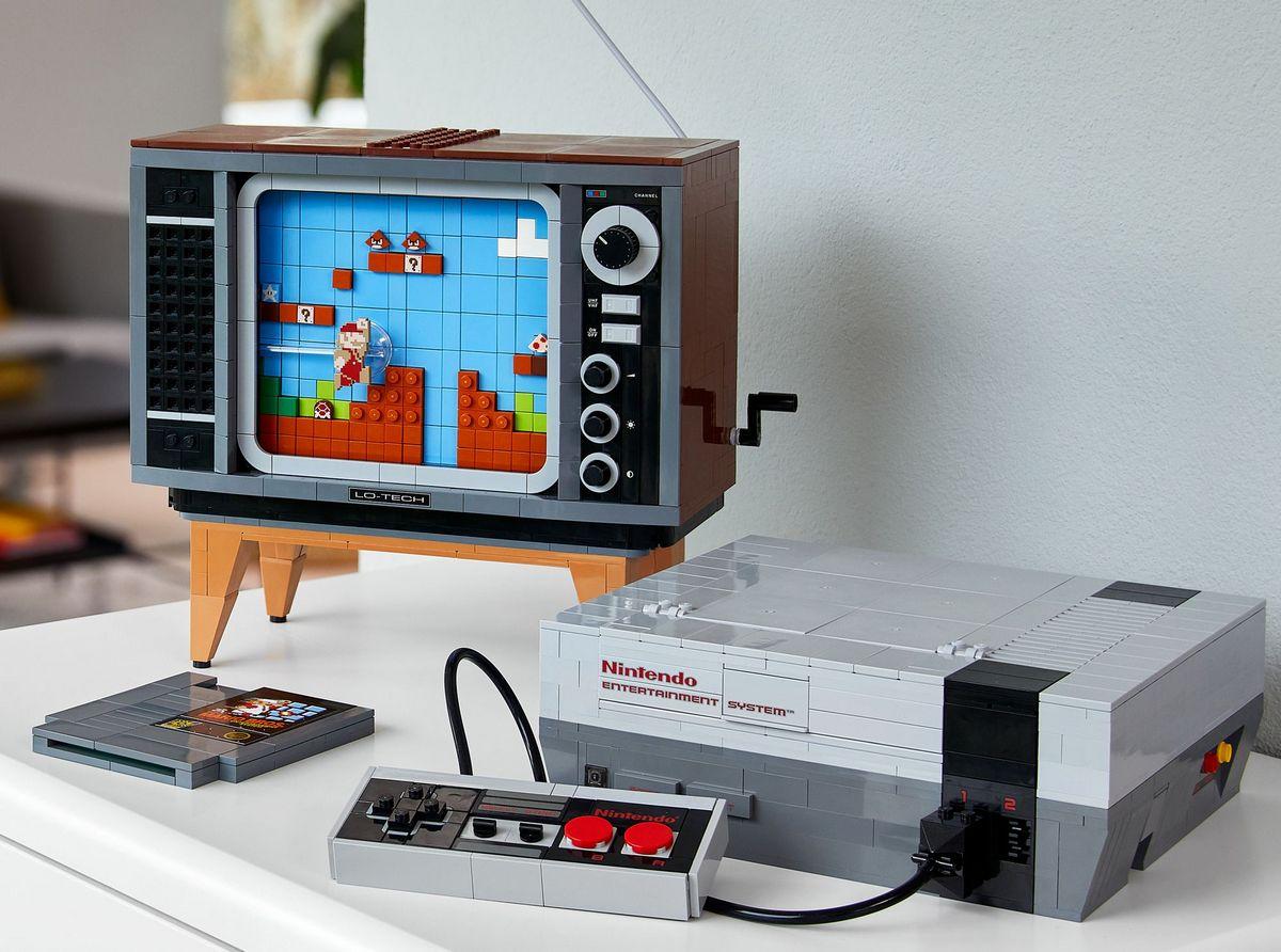 Lego shows off a 2,624 brick built NES console and a retro TV that replicates playing Super Mario