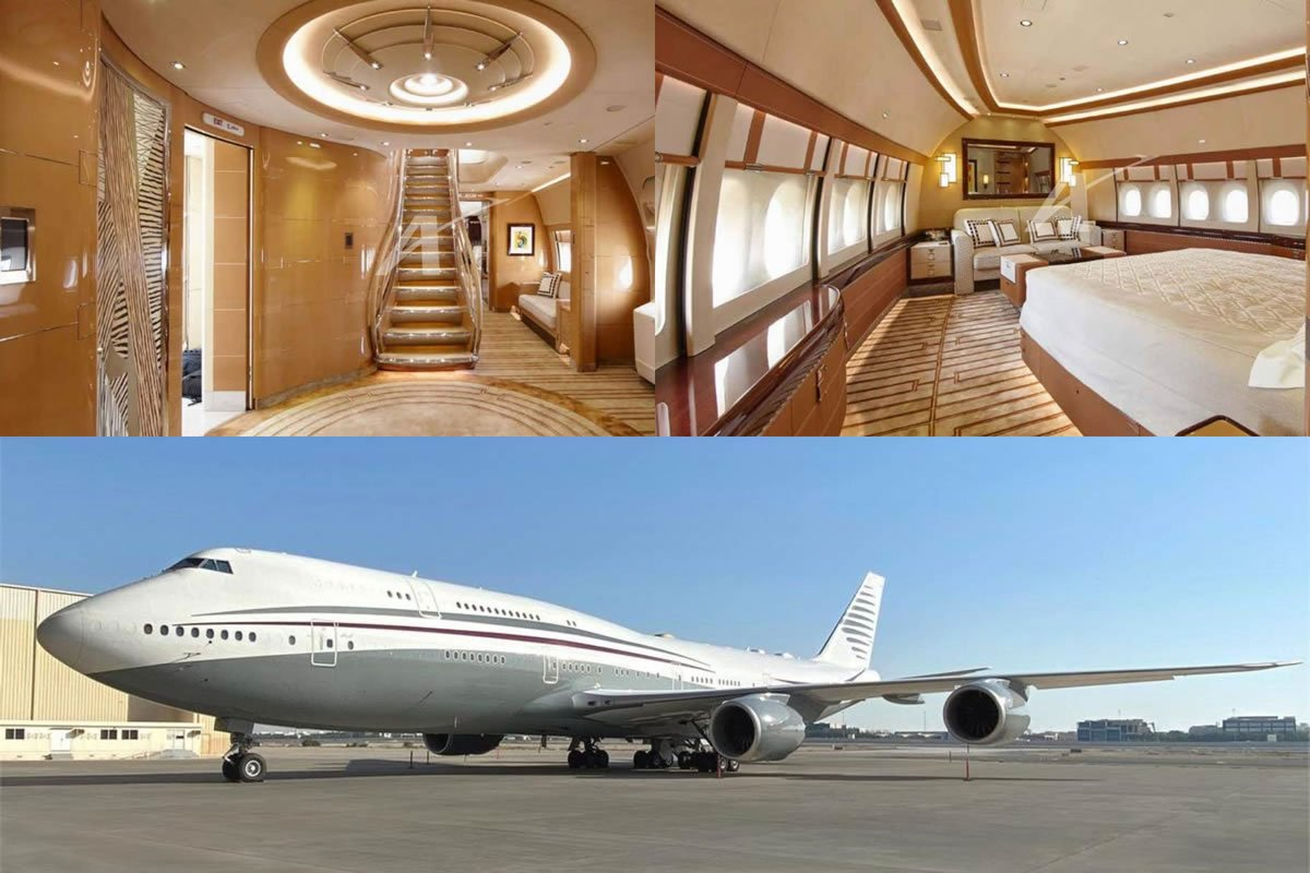 Pics - Complete with two bedrooms, an office, a grand staircase and a lot more - This Qatari 747-8i jumbo jet is literally a flying palace and its on sale : Luxurylaunches