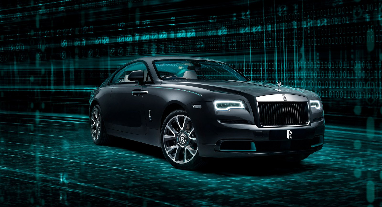 If Morpheus would ever ride a limousine it would be this special edition Rolls-Royce Wraith Kryptos