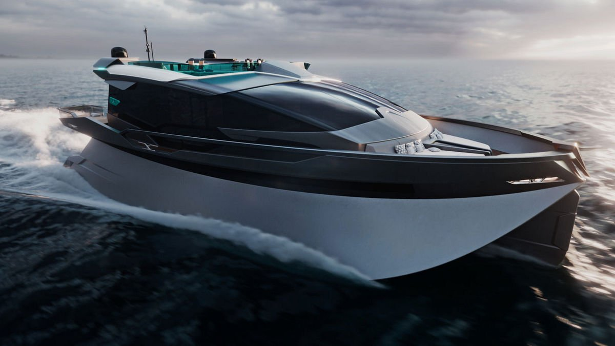 Fit for modern royalty – This 25 meter yacht concept comes with a movie theater, glass-bottom tub, and opulent interiors