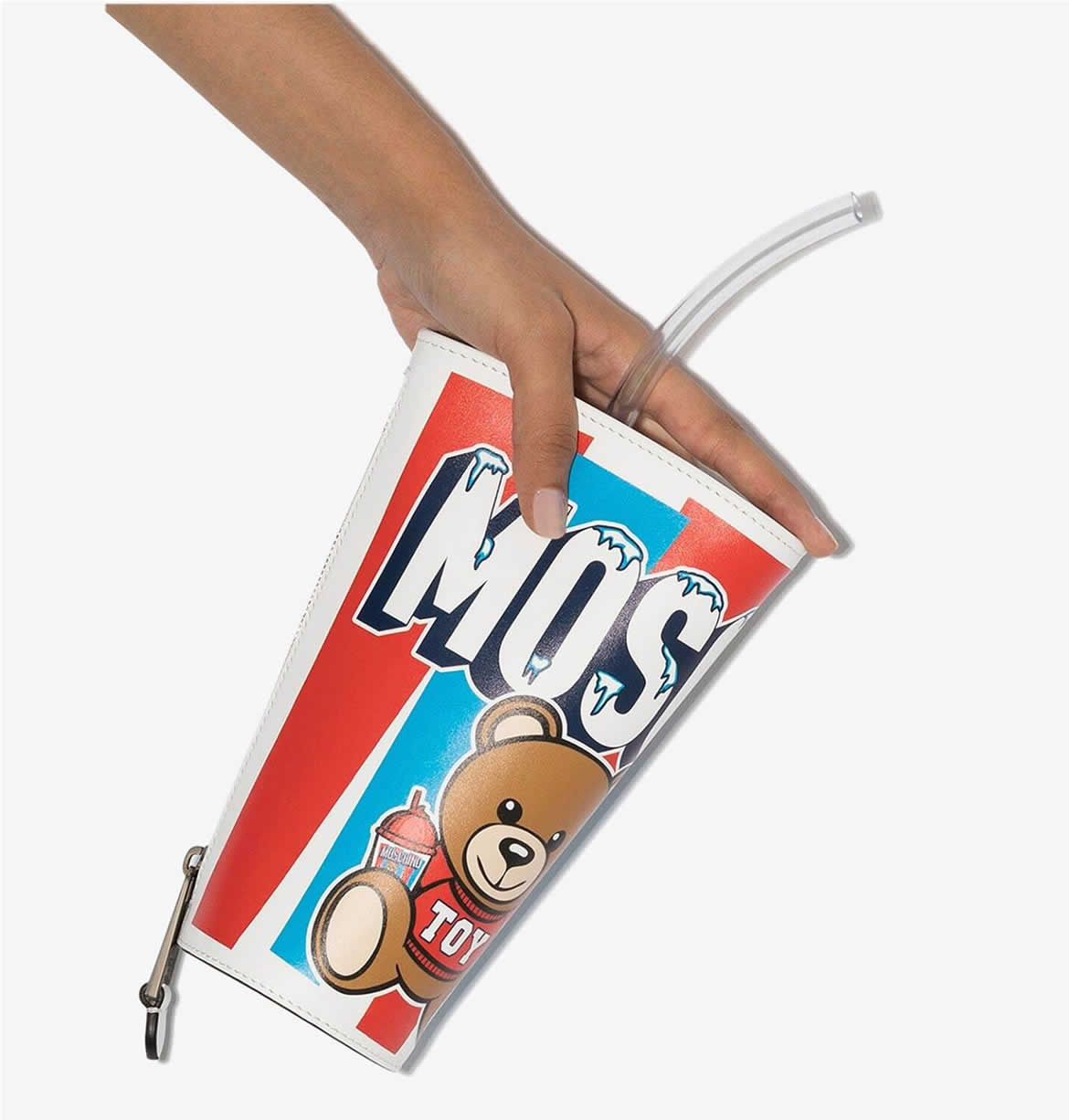Arm candy of the week: Moschino take away cup bag quenches our thirst for all things fashion