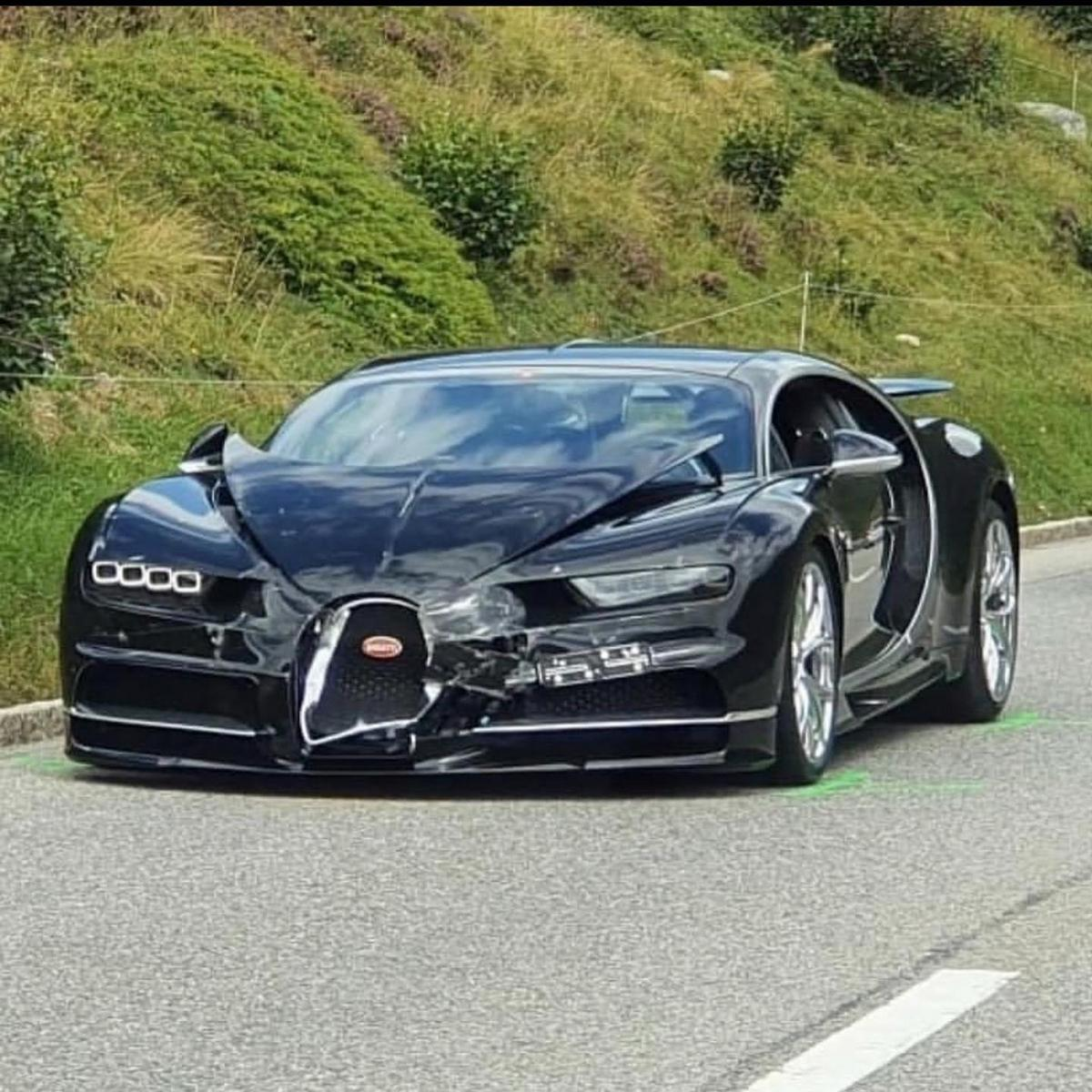 Just painful – Bugatti Chiron crashes into Porsche 911 in Switzerland while trying to overtake a motorhome