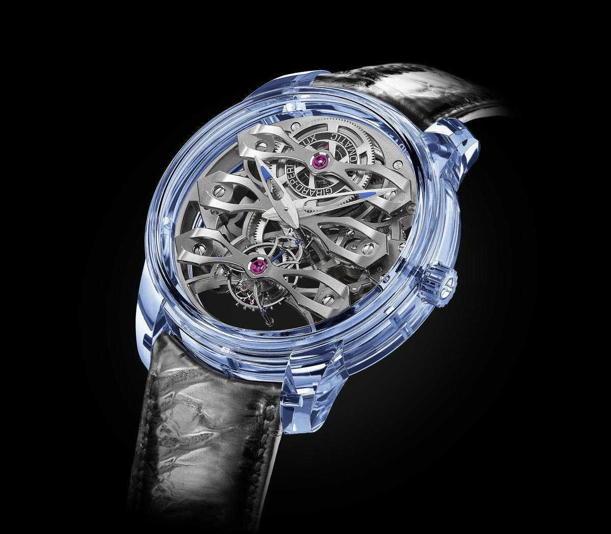 Made from a single block of blue sapphire the $274,000 Girard-Perregaux Quasar Azure watch is an absolute work of art : Luxurylaunches