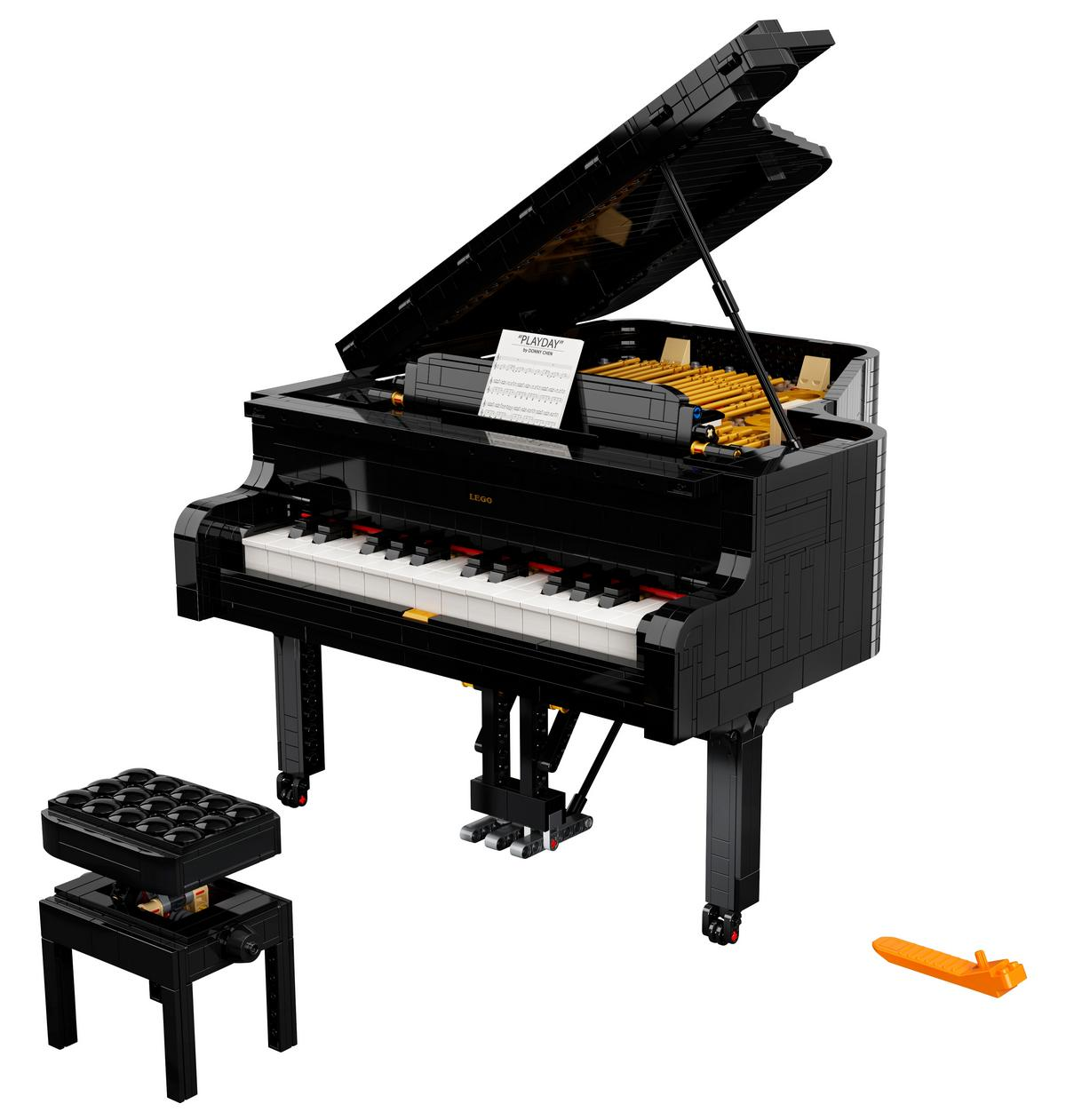 This 3,600-piece playable Lego Grand Piano dishes out some sweet tunes