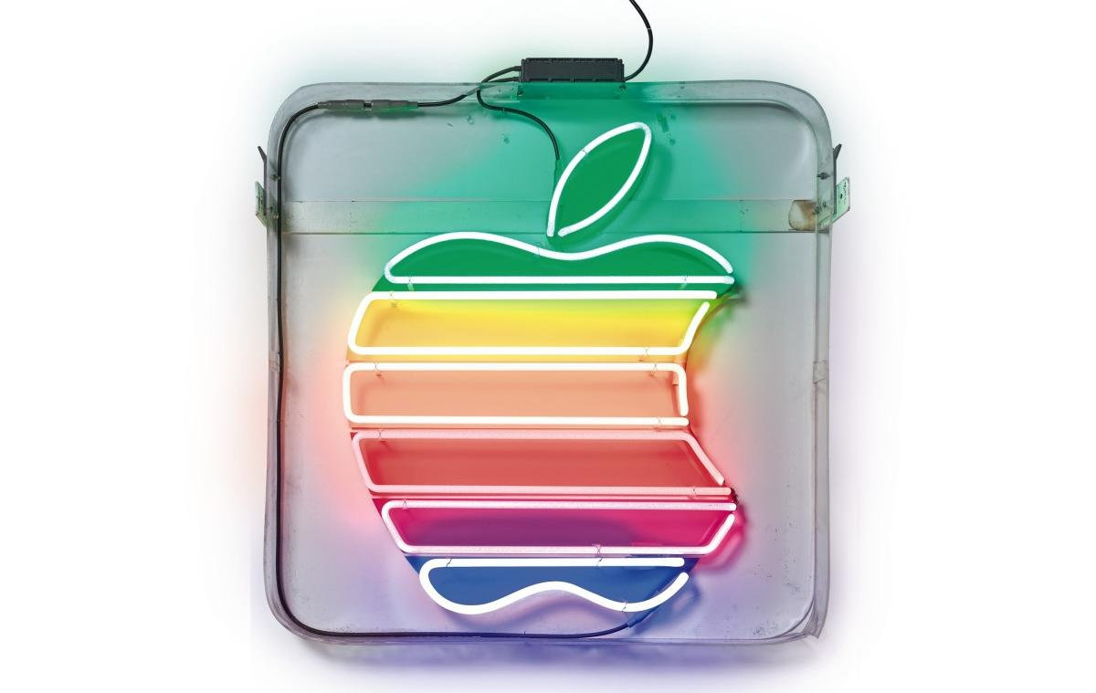 At $81,300, this original Neon rainbow Apple logo is the most expensive LED sign ever sold