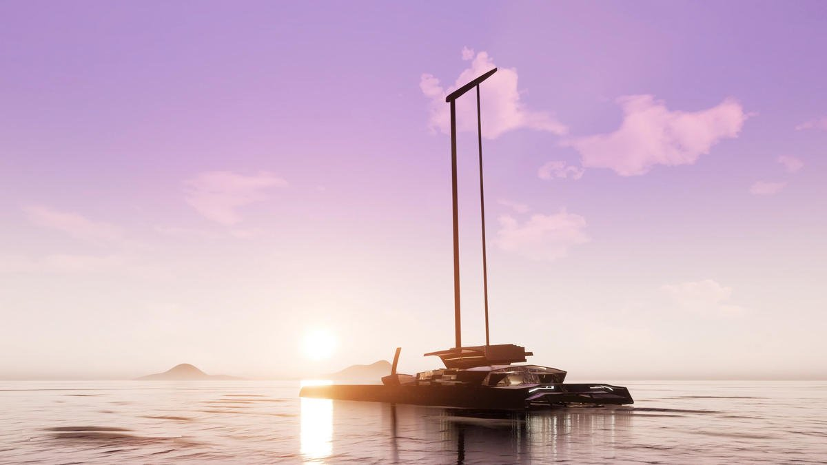 Bugatti of the high seas – This $90 million luxury catamaran cuts through the water at 50 knots and is powered by hydrogen