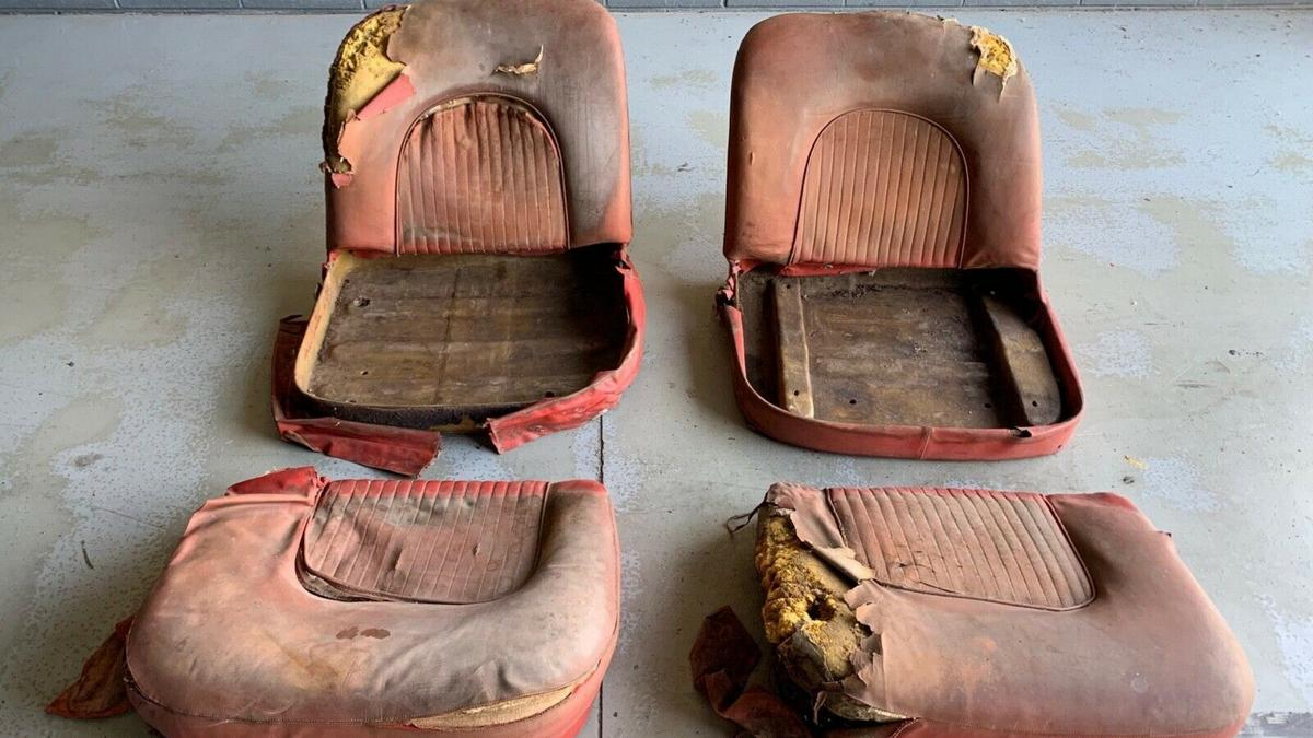 These torn and worn out car seats are selling for $90,000 and there is a very good reason for the sky high price