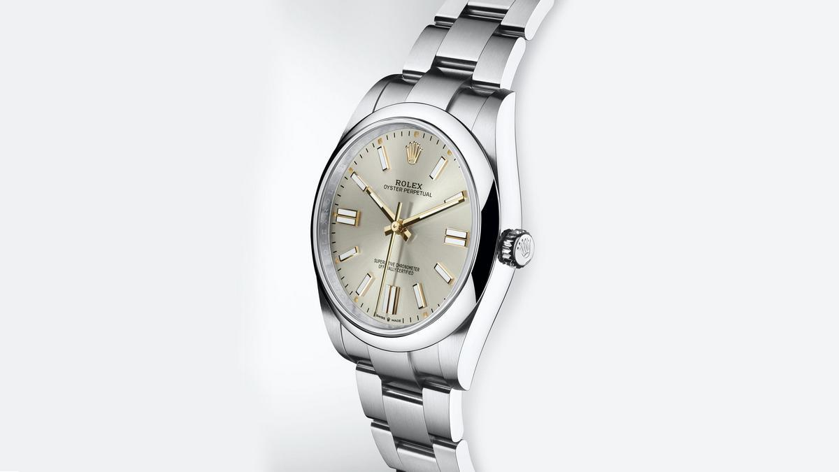 The new Rolex Oyster Perpetual 41 comes with a larger case, a new movement, and colored lacquered dials