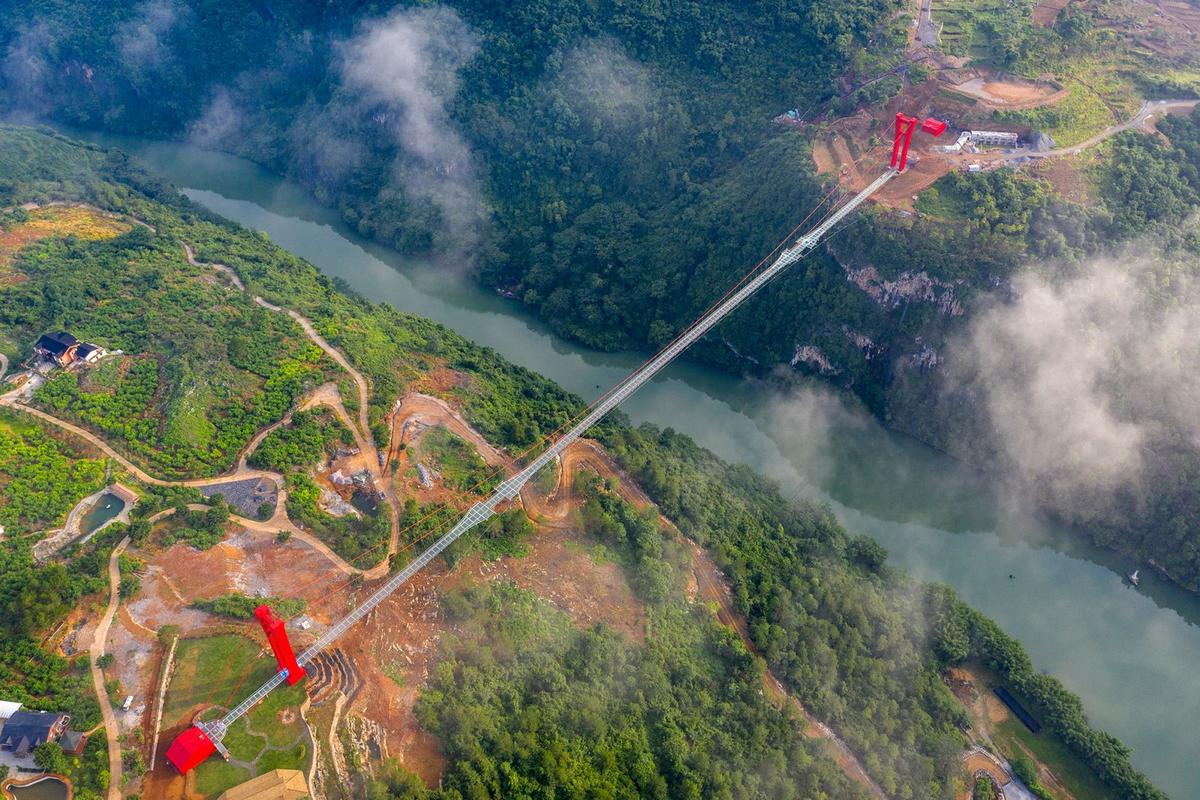 The worlds longest suspension glass-bottom bridge has opened in Lianzhou, China and it sure will be every Instagrammers dream