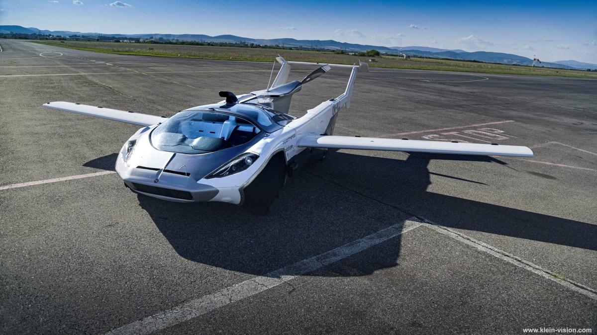 Watch: A Slovakian flying car concept transforms from a regular road car to a fully-functioning aircraft in less than 3-minutes