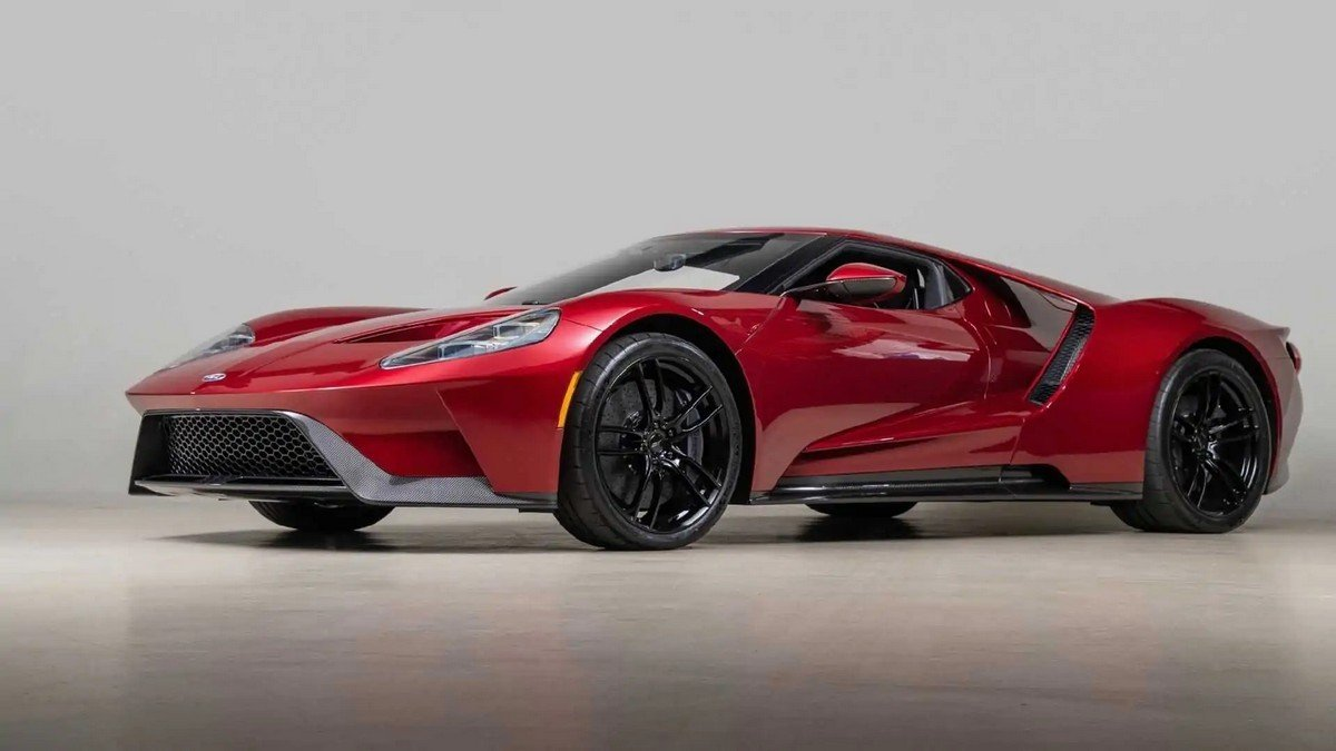A 2017 Ford GT owned by the man who designed it is up for sale and it has just 204 miles on the odometer