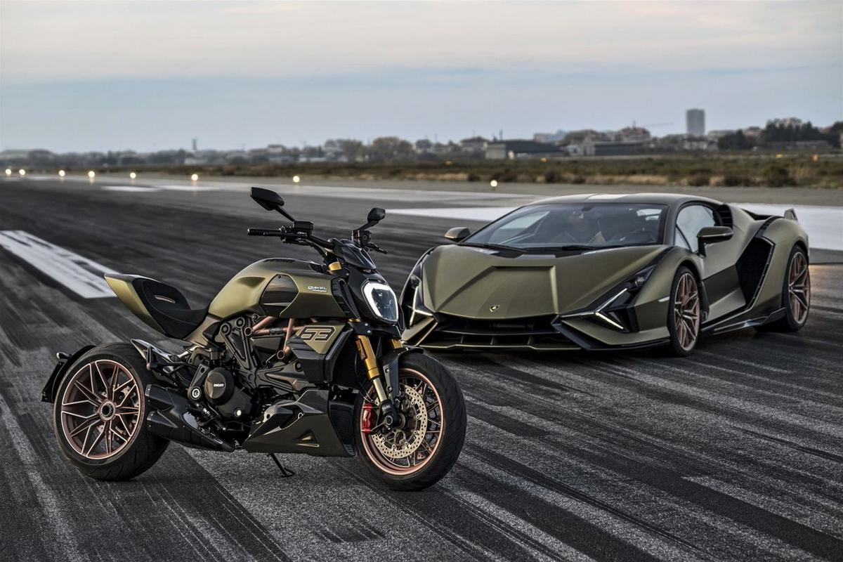 Lamborghini has partnered with Ducati for a limited-edition motorcycle themed after the Sian supercar and its an absolute stunner