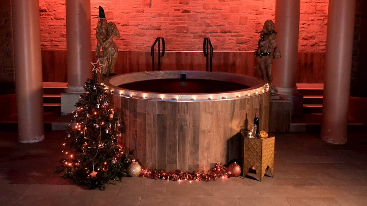 Detoxify yourself by immersing in 1000 liters of toasty wine at the world's first mulled wine spa