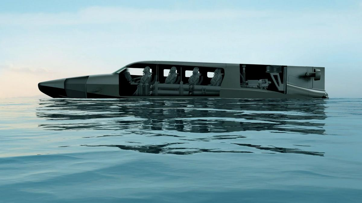 In true James Bond style this $9 million electric vessel transforms from a boat into a submarine and all with the touch with a button