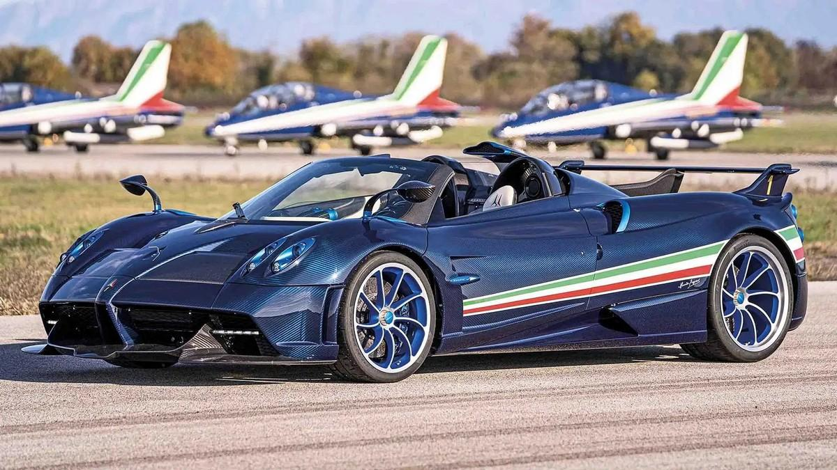The Pagani Huayra Tricolore is a $6.7 million limited-edition hypercar built as a tribute to the acrobatic team of Italian Air Force