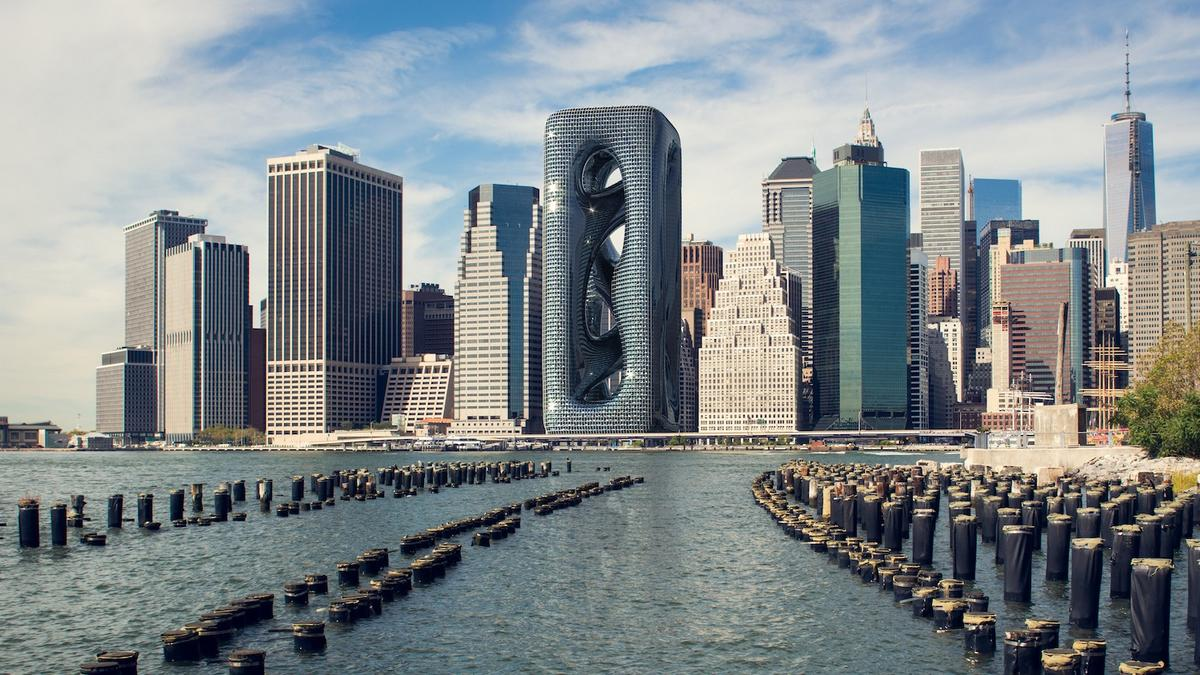 Inspired by an Amoeba this 688 feet tall skyscraper with its twisting design will change New York City's skyline forever