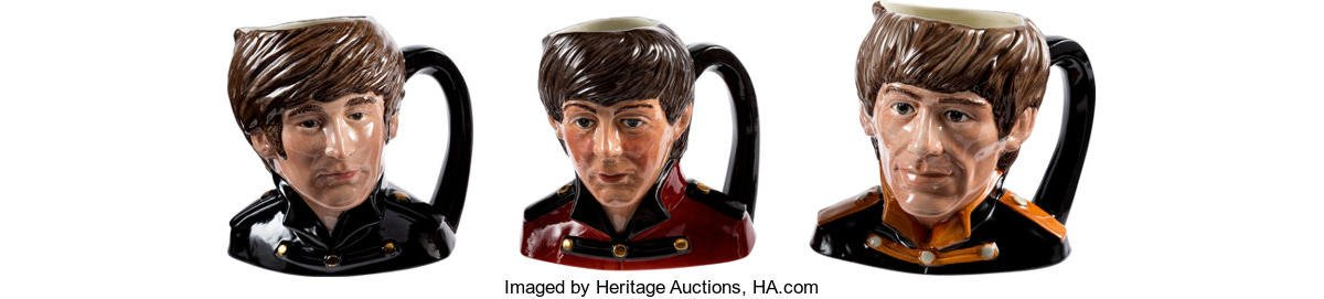 A rare set of Beatles Character Toby Jugs can fetch $34,000