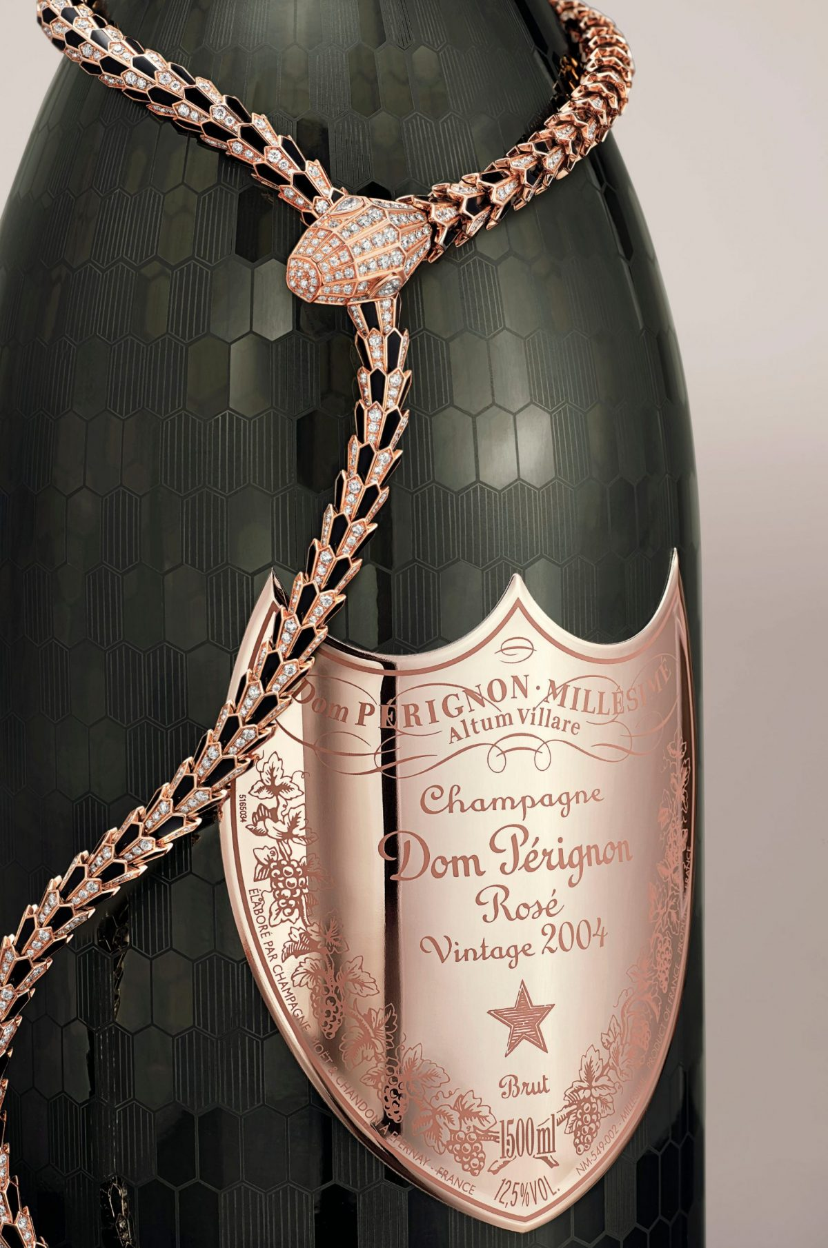 This ultra-exclusive Dom Pérignon Rosé comes with a stunning Bulgari Serpenti necklace