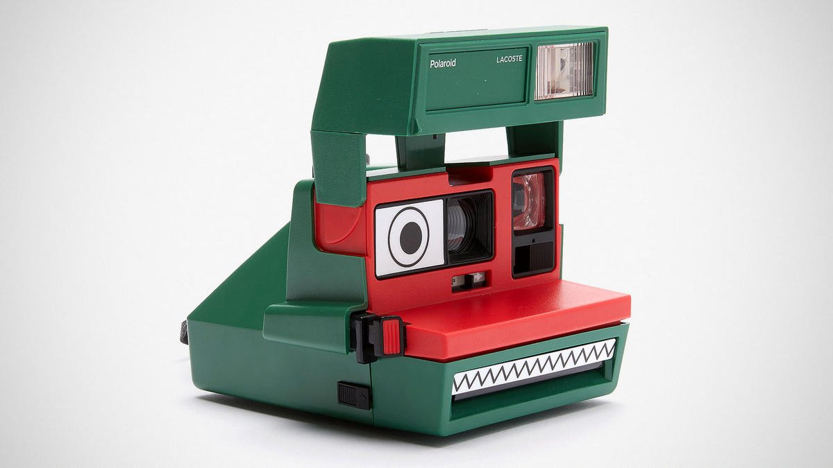 Lacoste and Polaroid unveil a limited-edition camera that looks like a quirky crocodile