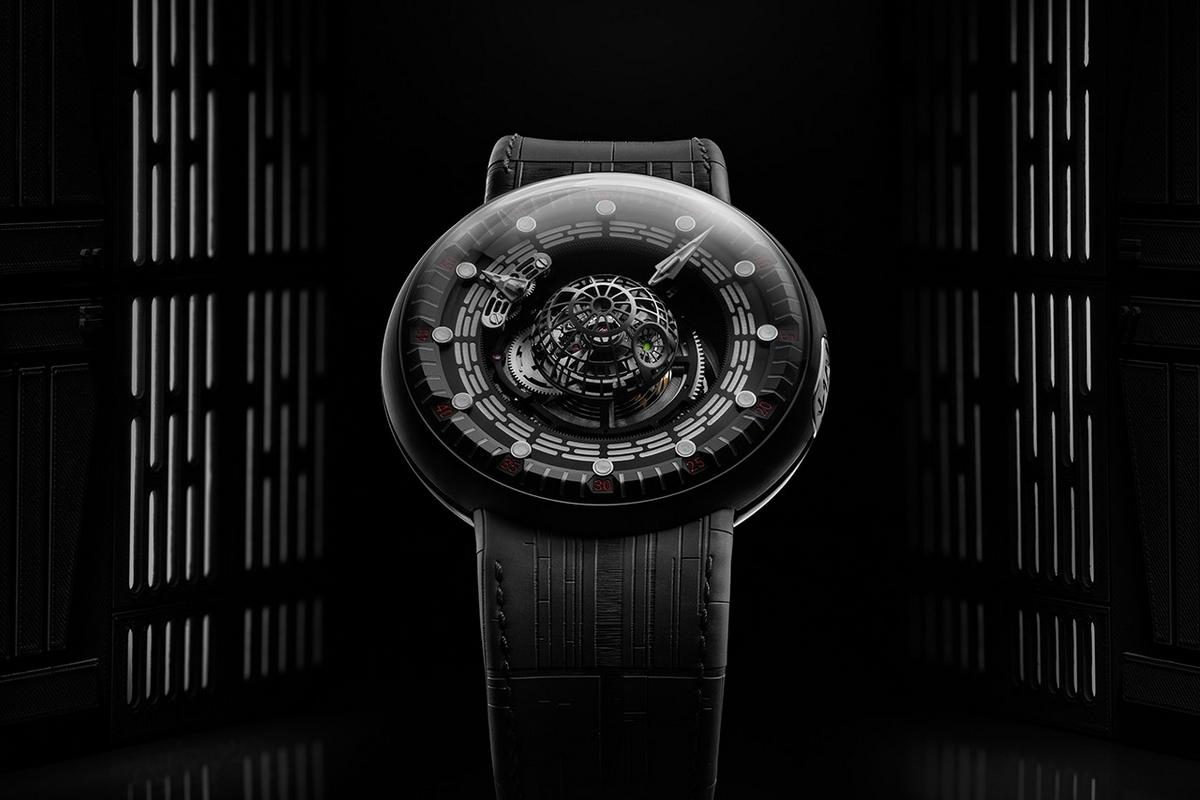 This incredible $150,000 Star-Wars-themed watch has a Death Star replica on its dial and comes in a 1.2-meter storage box