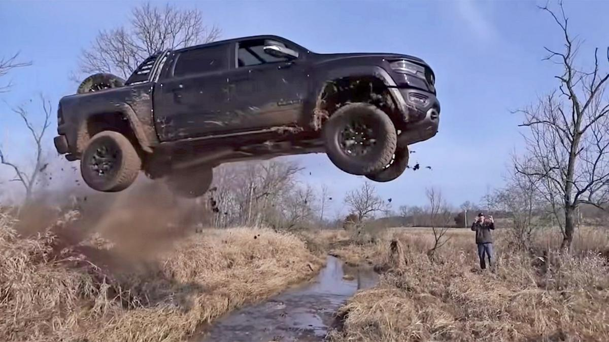 The true cost of likes and views – YouTuber is surprised after he is charged with 18 criminal counts for his viral video of jumping an off-road pickup truck over a stream