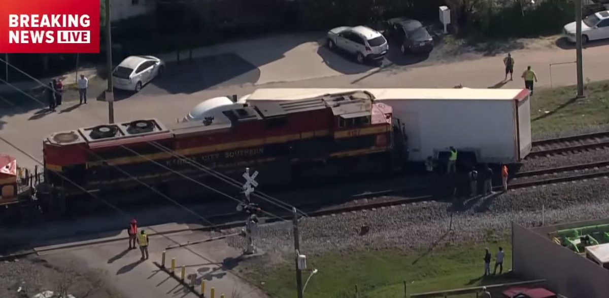 Stuck on the tracks, a truck carrying a $625k Ferrari SF90 Stradale, a vintage Porsche 911, a Bentley and other exotics was rammed by a train in Houston